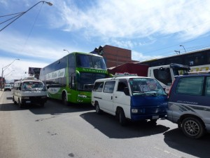 Traffic came to a standstill in El Alto on 24/2