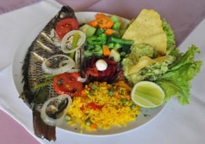My lunch: steam fish