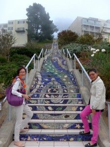 A mosaic staircase, Sunset District