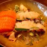 Lobster & Salmon sashimi