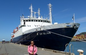 MV Ortelius at Bluff Port, February 11, 2015