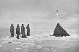 First men at South Pole
