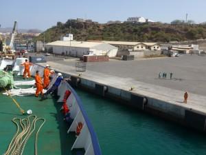 Arriving at Cabo Verde April 28, 2015