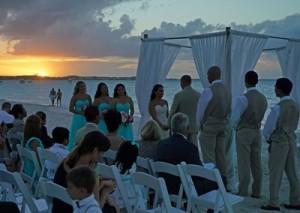 Romantic Beach Wedding  on November 7, 2015