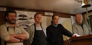 Captain Gert, First Mate Geron, Chef Menthe, Leader Jan (L-R)
