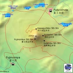 Mt fuji and lakes