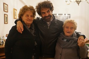 Ben with Grandma (R) & 84-year-old lady (L)