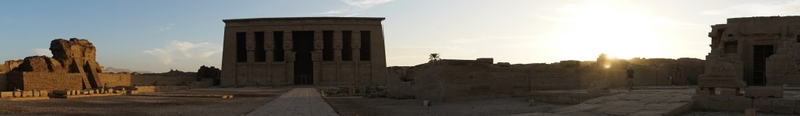 Temple of Hathor at sunset, Qena