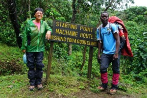 Sanke, my guide at the start of the 7-day Machame Route Trek, November 19, 2016