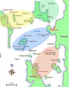 Island hopping tours in El Nido