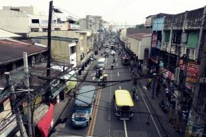 View of Antonio Arnaiz Avenue from Liberbad Station