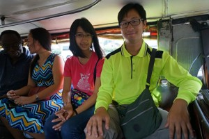A ride on a minibus