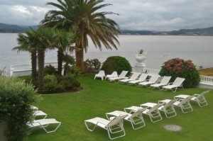 Outdoor wedding venue for fine weather