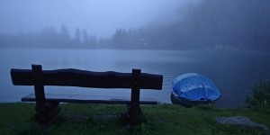 Atmospheric Champex Lac after rain