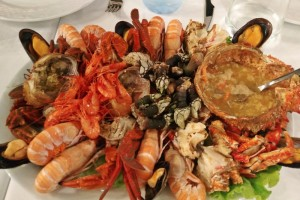 Excellent seafood in Galicia!