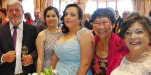 Happy Wedding Day of Isabel and Maricela; photo with Carmen and Ramon