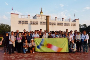 Group photo at Lumbini