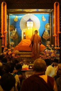 Buddha statue in Mahabodhi Temple